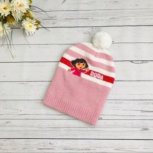Girls Pink Dora Beanie
